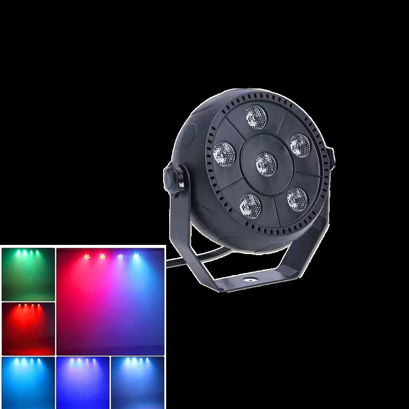 6 Đèn LED Par Đèn Par Hoàn Toàn Mới Chất Lượng Cao 18W Ánh Sáng Sân Khấu, Thích Hợp Cho Tất Cả Các Loại Câu Lạc Bộ Đêm Và Tiệc Tùng