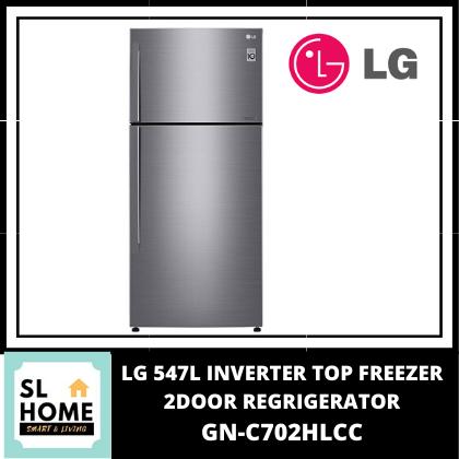 LG GN-C702HLCC 547L Platinum Silver Top Freezer with Inverter Linear Compressor & DoorCooling+ GNC702HLCC