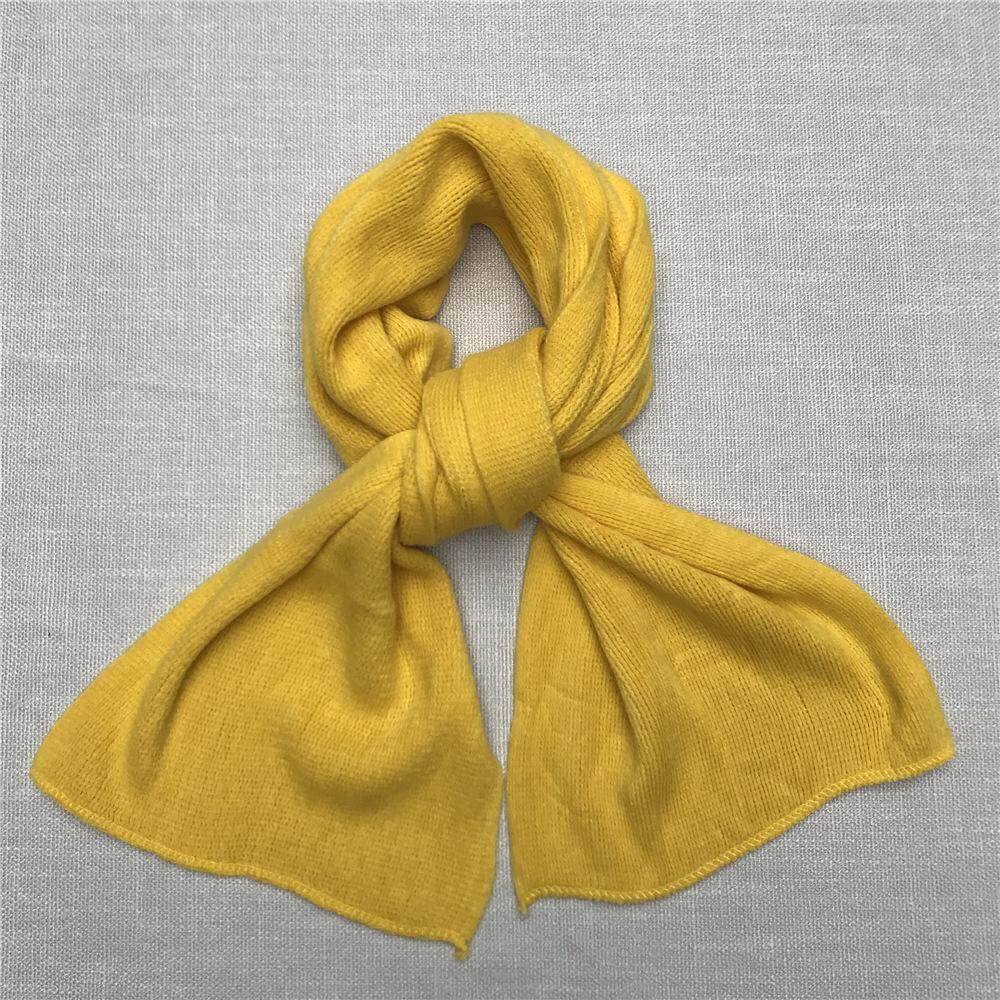 Mens Solid Color Scarf Knit Cashmere Unisex Thick Warm Soft Winter Long Scarves