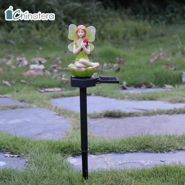 [Chinatera] Đèn LED Thần Tiên Hình Hoa Năng Lượng Mặt Trời Đèn Bãi Cỏ, Đèn Cảnh Quan Sân Vườn Ngoài Trời Không Thấm Nước