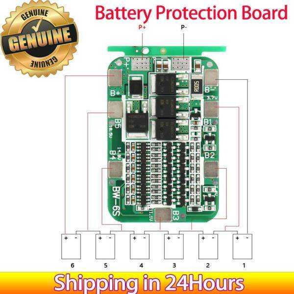 【Promotions】6S 15A 22V 24V Protection Board PCB BMS for 18650 Li-ion Cell