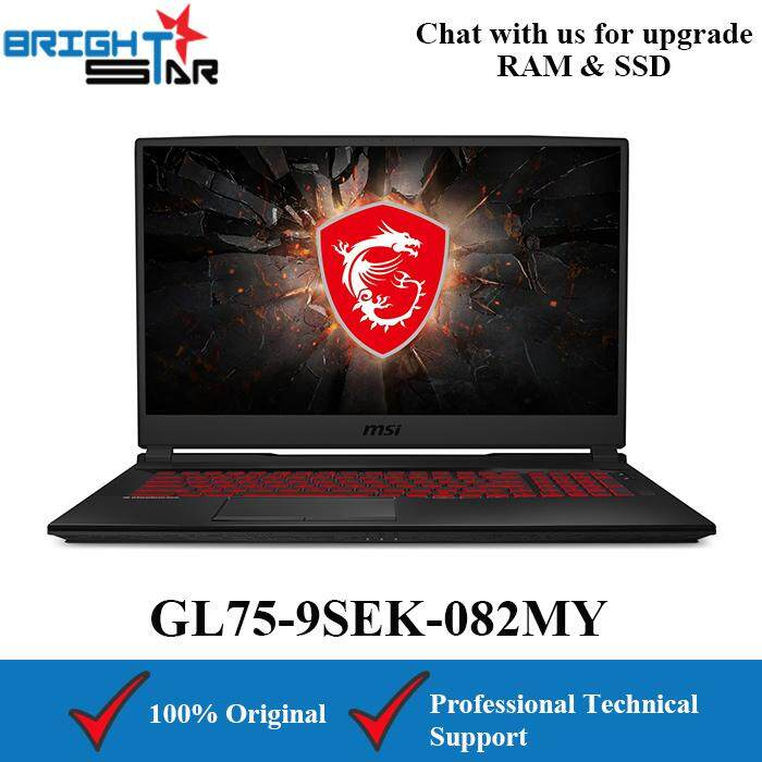 MSI GL75-9SEK-082MY Gaming (Intel I7-9750H/16GB/512GB SSD/RTX2060 6GB/17.3Inch/120Hz) Malaysia