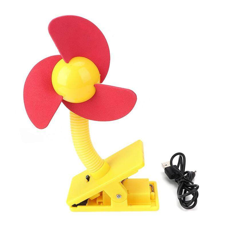 【Limited Clearance】royalbelle Portable Battery USB Power Supply Baby Mulitpurpose Clip On Stroller Cradle Mini Fan Yellow page red page Singapore