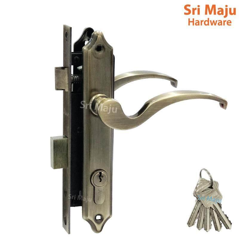 MAJU 7025 AB Grille Door Lock Mortise Lockset Handle Entrance Iron Door Gate Lock