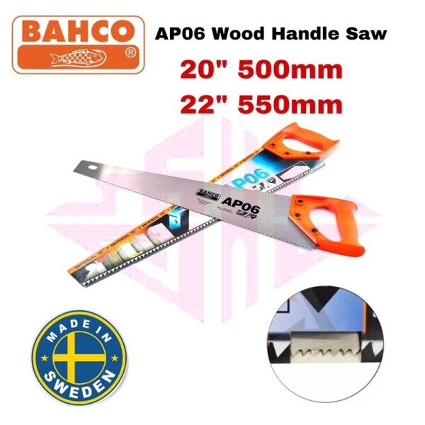 EEHIONG1977 BAHCO AP06-20(20) AP06-22(22) AP06 Universal Wood Hand Saw MADE in SWEDEN Gegaji Kayu Tangan 百固 20寸 22寸 通用木柄手锯 手锯