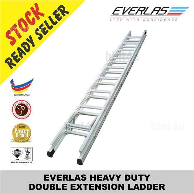 EVERLAS HEAVY DUTY DOUBLE EXTENSION LADDER
