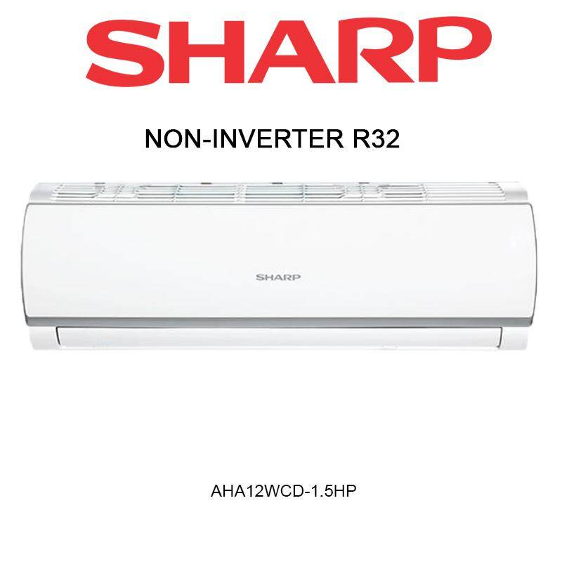 Sharp Non Inverter Air Conditioner R32A 1.5HP (AHA12WCD) Aircond
