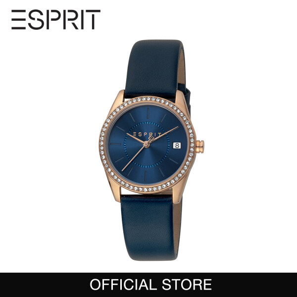 Esprit Mini Blue Leather 30mm Women Watch 1L195 2020 (Free Gift) Malaysia