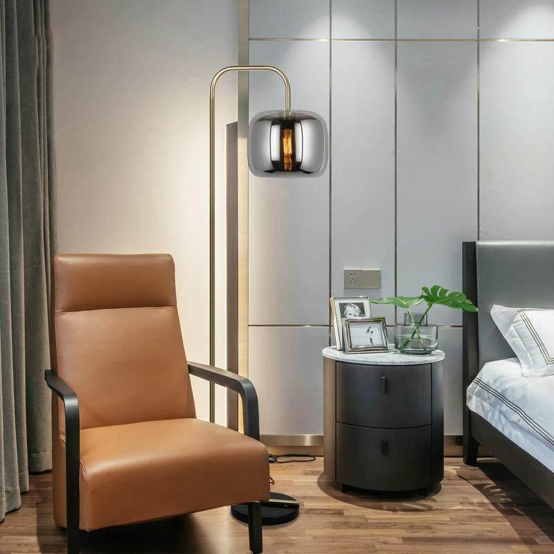 High-end Luxury Elegant Modern Metal Glass Floor Lamp for Living Room Bedroom Hotel