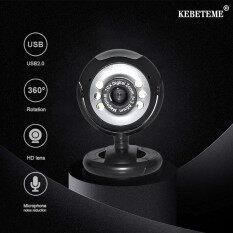 KEBETEME USB 2.0 Digital HD 30.0 Mega Webcam Camera Pixels 6 LED Web Cam Với Mic Microphone Cho Skype Cho MSN PC
