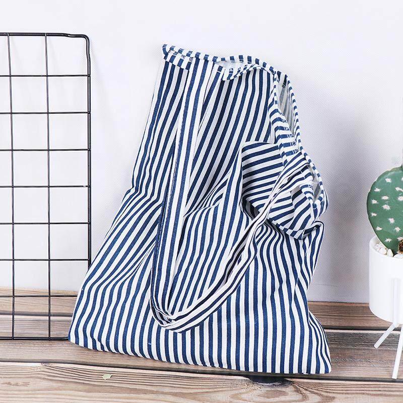 Magical House ลายกระเป๋าผ้าลินินกระเป๋าโท้ทพับได้ช้อปปิ้งผ้าใบกลางแจ้งกระเป๋าสะพายไหล่ By Magical House.