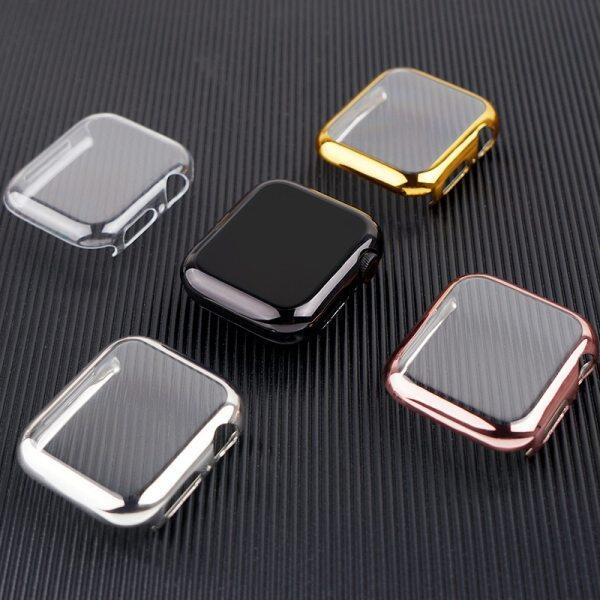 Ốp Cho Apple Watch Phụ Kiện 44Mm/40Mm 42Mm/38Mm Ốp Bảo Vệ Màn Hình Bằng TPU Mềm Xung Quanh Apple Watch Series SE 1 2 3 4 5 6