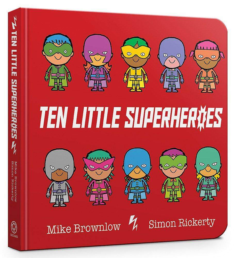 BORDERS Ten Little Superheroes Board Book by Mike Brownlow (Author)