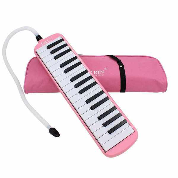 32 Piano Keys Melodica Musical Instrument for Music Lovers Beginners Gift with Carrying Bag (Pink) Malaysia