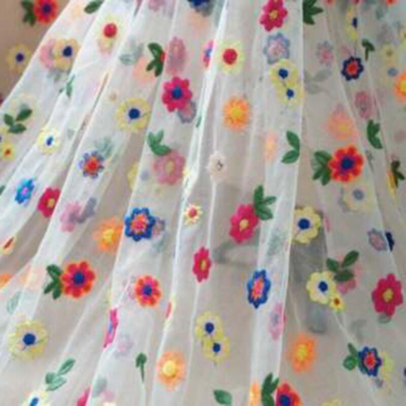 Vải Ren Vải Tuyn Thêu Nhiều Màu 91X135Cm Váy Cưới Cô Dâu Lưới Tự Làm