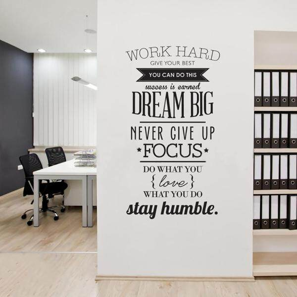 Work Hard Dream Big Inspirational Quote Wall Art Sticker DIY Home Decor Decal
