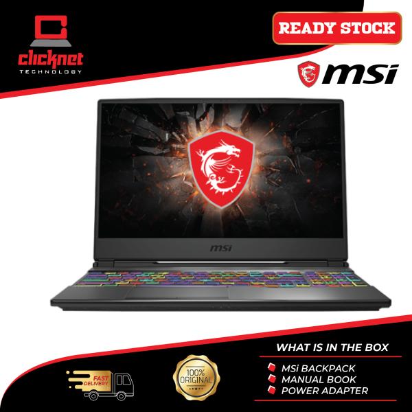 MSI Laptop Gaming GP65-9SE-245 15.6  FHD 144Hz Black (i7-9750H, 16GB, 1TB SSD, RTX 2060 6GB, W10) Malaysia