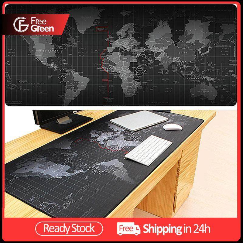 FreeGreen Big Size Pro Gaming World Map Mouse Pad Mousepad for Dota LOL CS GO Size 30*60*0.2cm/30*70*0.2cm/40*90*0.2cm Malaysia
