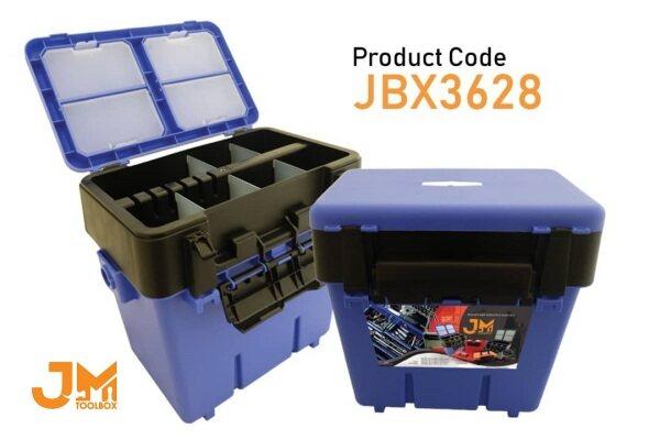 JM Tool Box JBX3628 - Multipurpose Plastic Tool Box PP