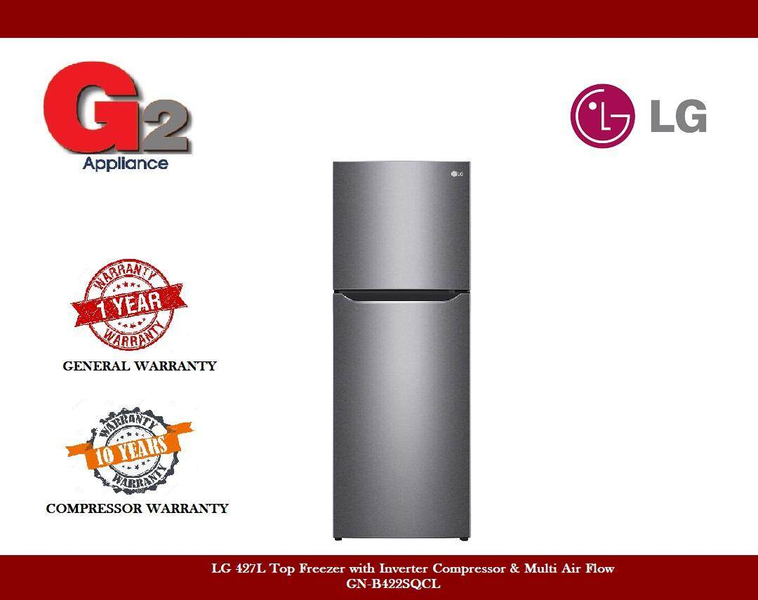 LG 427L Top Freezer with Inverter Compressor & Multi Air Flow GN-B422SQCL