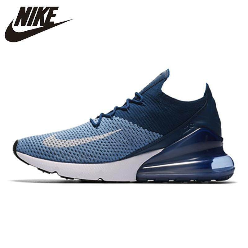 san francisco 43ab8 612c2 Nike Air Max 270 Cushion Sneakers Sport Flyknit Running Shoes Classic Deep  Blue AO1023-400