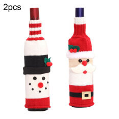 [Bạc Hà] Bộ Chai Rượu Giáng Sinh Vui Vẻ Trang Trí Giáng Sinh Cho Ngôi Nhà 2020 Đồ Trang Trí Giáng Sinh Navidad Noel Quà Tặng Giáng Sinh Năm Mới 2021