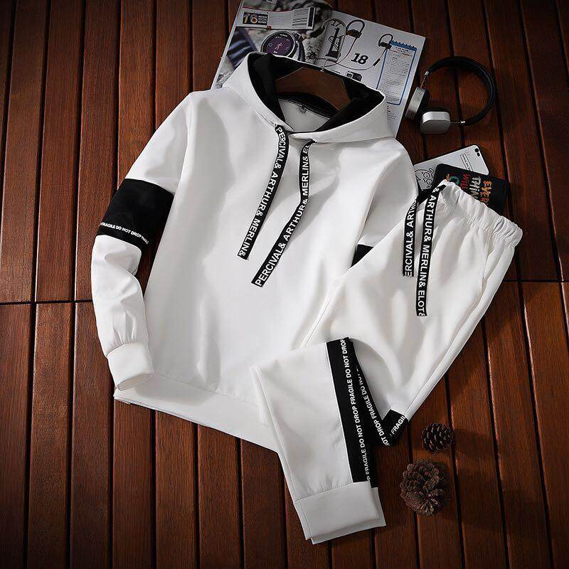127be0ff619f8b Men's Casual Tracksuit Long Sleeve Jogging Athletic Sports Set