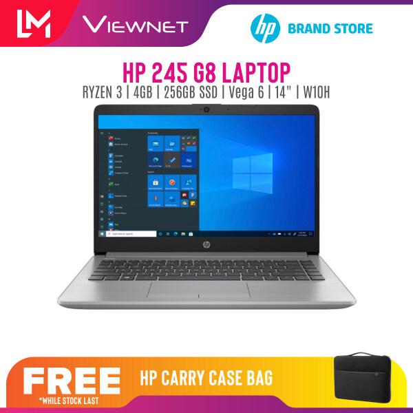 HP 245 G8 Laptop 14 INCH Silver RYZEN3-3300U / 4GB / 256GB SSD / UMA / W10 HOME /1 YEAR WARRANTY 450D2PA Malaysia