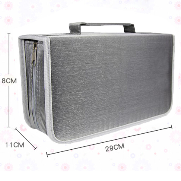 MagiDeal CD DVD Case Holder Organizer Game Disc Wallet Holder DVD Storage Bag Silver