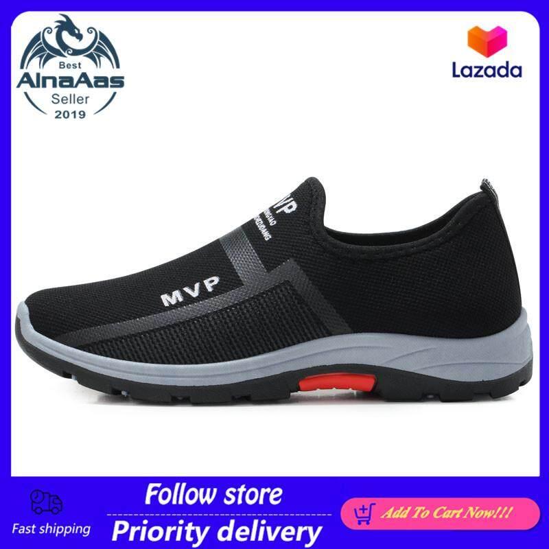 Giày sneaker dạng slip on chất liệu lưới mát khí thoải mái thích hợp hoạt động thể thao thiết kế đơn giản trẻ trung AinaAas