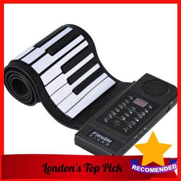 [ London ] Portable Silicon 61 Keys Roll Up Piano Electronic MIDI Keyboard with Built-in Loud Speaker (Standard) Malaysia