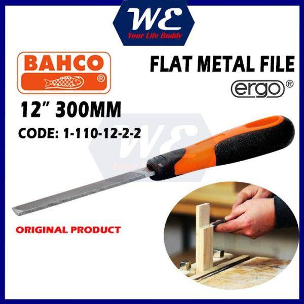 BAHCO 12 / 300mm Flat Handy File For Metal / Kikir Besi Kayu