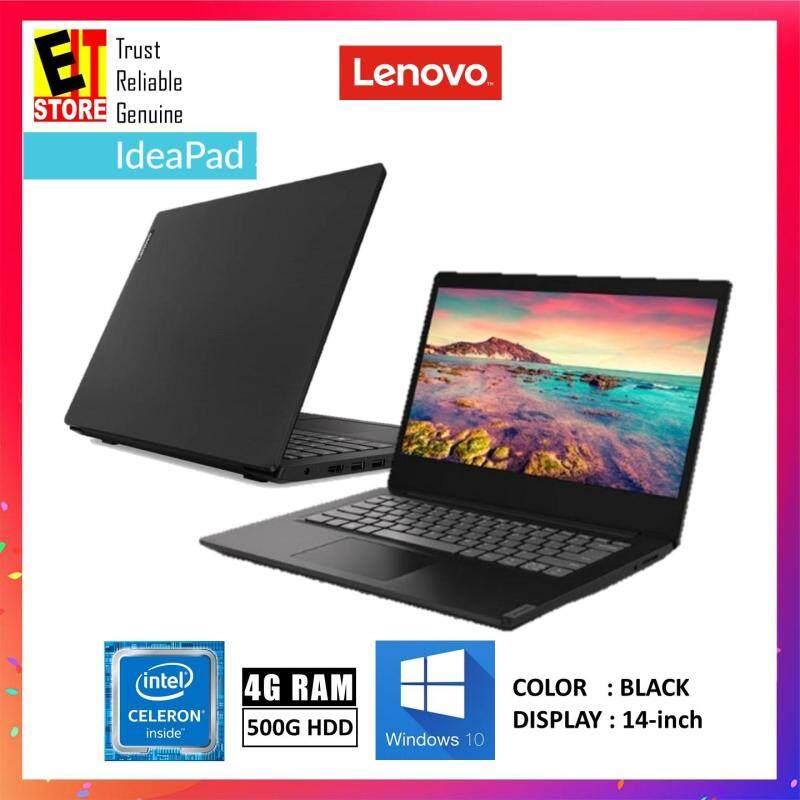 LENOVO IDEAPAD S145-14IWL 81MU001VMJ BLACK (CELERON 4205U/4GB/500GB/14/W10/1YR) Malaysia