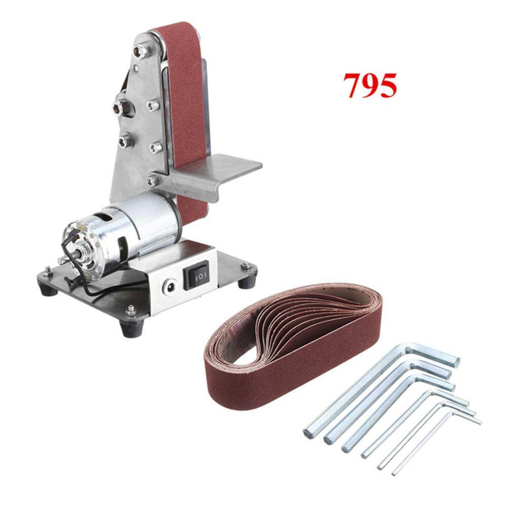 Mini Electric Belt Machine Sander Grinding Abrasive Adjustable Speed Belts Conveyor Polishing Cutter Edges for Wood Plastic Polisher