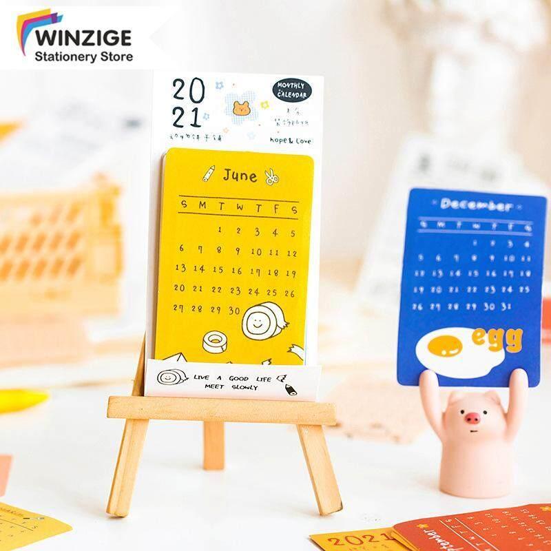 Winzige Hàng Tháng Dán 2021 Lịch Sticker Tạp Chí Trang Trí Nội Thất Chất Liệu Scrapbooking