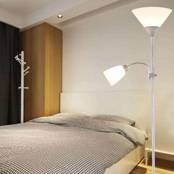 YWXLight Folding Wrought Iron Floor Lamp (Silver)