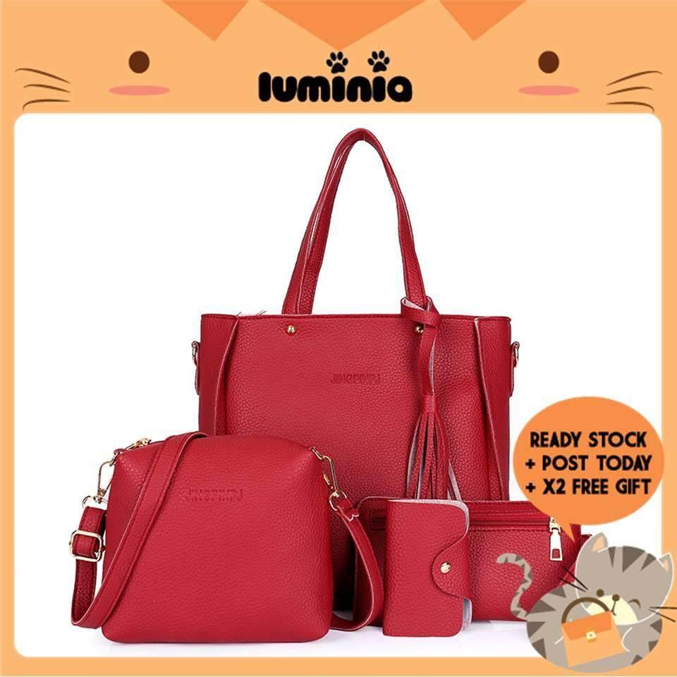 aa6a758e18171 READY STOCK LUMINIA MALAYSIA - 4 in 1 Sammi Bag Shoulder Sling Bags Purse  Handbag Begs Clutch Pouch