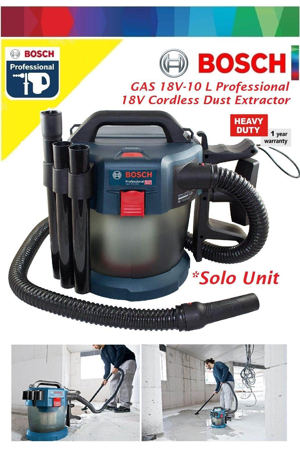 Bosch GAS 18V-10L Cordless Wet & Dry Vacuum Cleaner (Solo)