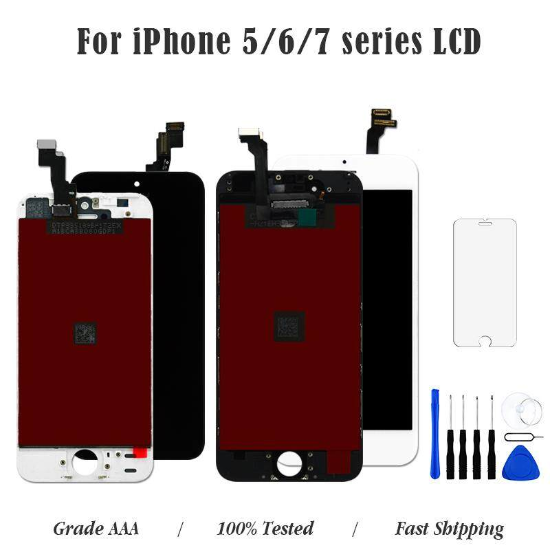 newest 3f277 a1c08 Black/White Assembly LCD Display Digitizer for iPhone 5 5s 5c AAA Quality  LCD Touch Screen for iPhone 6 6s PLUS 7 7Plus No Dead Pixel with Gifts