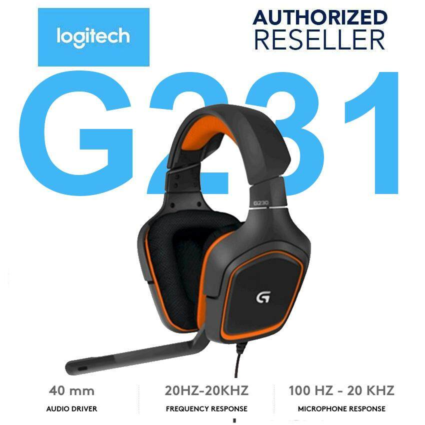 Original Logitech G231 Prodigy Gaming Professional Wired Headset By Vicnity.