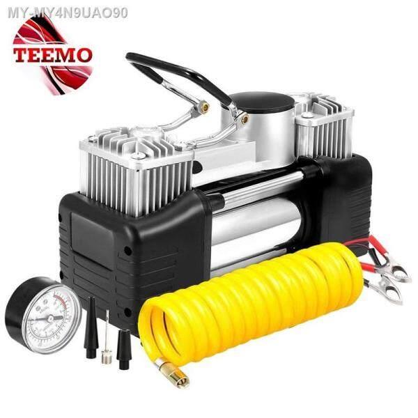 READY STOCK 💰 TEEMO Air Compressor 150 PSI Metal Car Tire Inflator High Pressure Pump