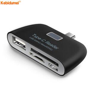 Kebidumei Bộ Chuyển Đổi Thẻ Nhớ 4 Trong 1, USB-C USB 3.1 Loại C Đầu Đọc Thẻ TF OTG Cho Máy Tính Xách Tay Điện Thoại Máy Tính Bảng Đa Chức Năng Đầu Đọc Thẻ Thông Minh thumbnail