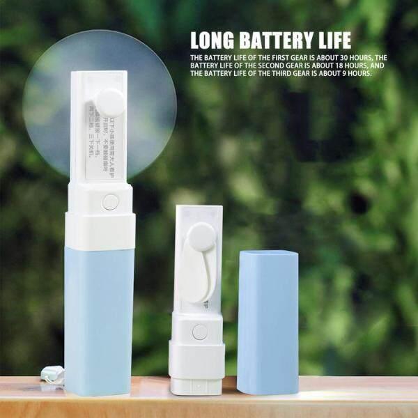 Quạt Mini Cầm Tay Xuri, Quạt Chiếu Sáng LED Sạc 3 Tốc Độ USB