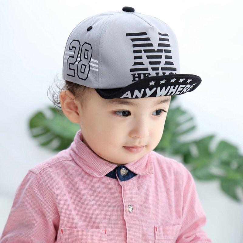 kulala Kids Girls cap,little children colorful brim design sunshade hat red