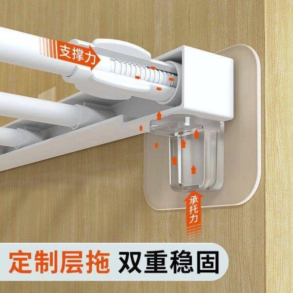 Upgrade version Self Adhesive Bracket Hook Wall Hooks Seamless Nail Free Wall Bracket Layer Support