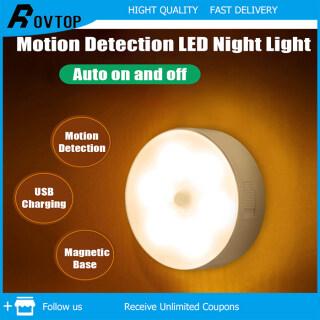 Rovtop Đèn LED Có Thể Điều Chỉnh Độ Sáng Phát Hiện Cảm Biến Chuyển Động Đèn Ngủ-Đế Từ-USB Có Thể Sạc Lại thumbnail