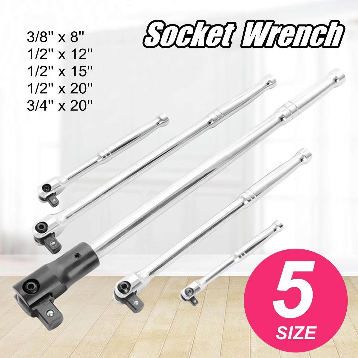 Drive Breaker Bar Rotates 180 Deg Socket Wrench Ratchet Hand Tool # 3/8 x 8