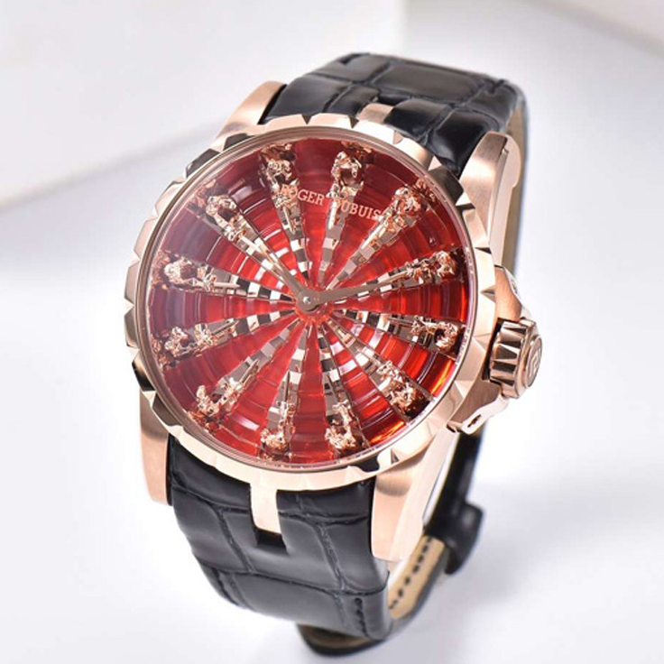 ZZ Factory Roger Cascais Excalibur Knights Of The Round Table III Rtdna-0785 RG Red Dial