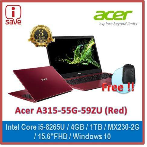 Acer Aspire 3 A315-55G-59ZU 15.6 FHD Laptop Rococo Red ( I5-8265U, 4GB, 1TB, MX230-2GB, 15.6FHD, W10 ) Malaysia
