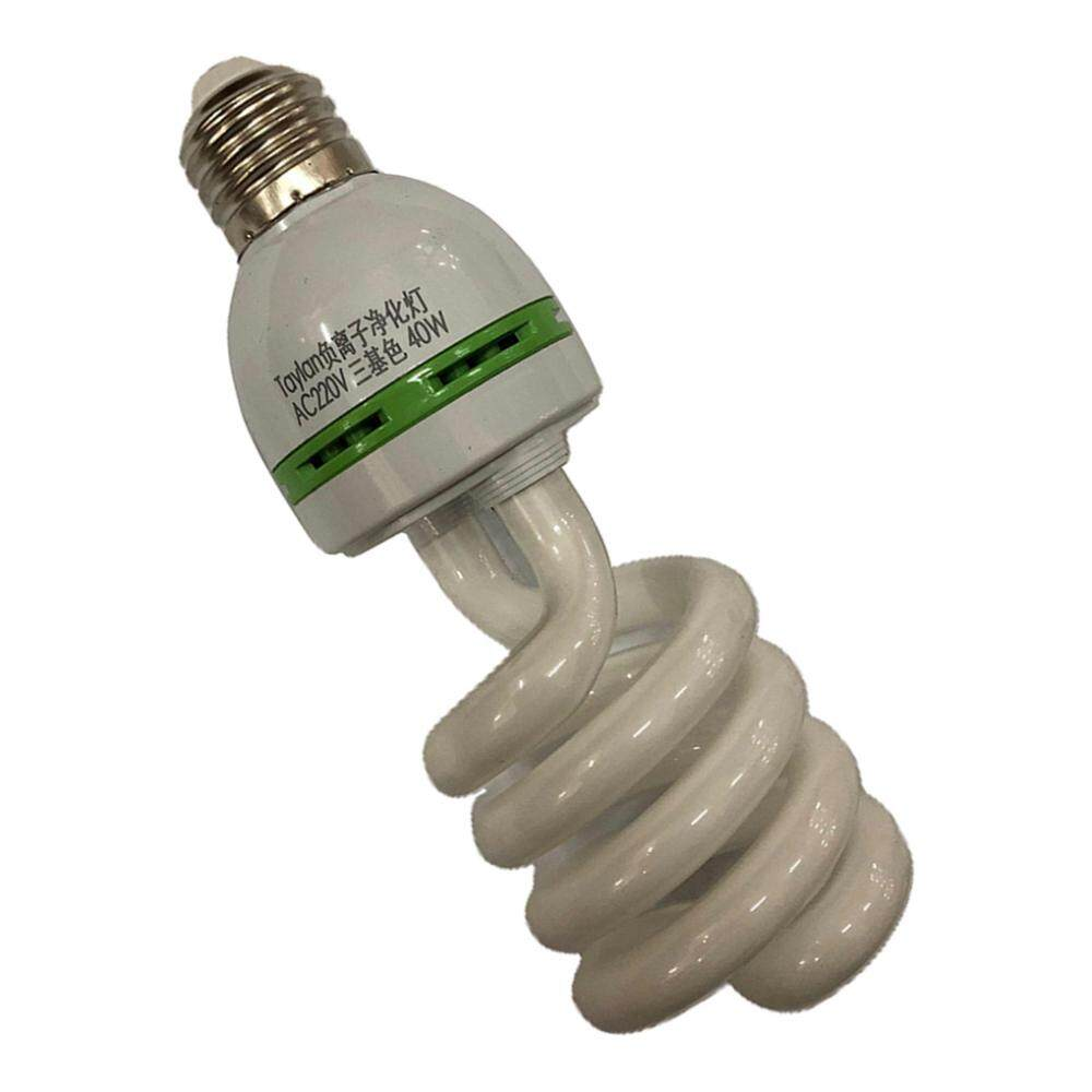 Fityle E27 Negative Ion Spiral Light Bulb Ionizer Anion Air Purifier Bulb 40W